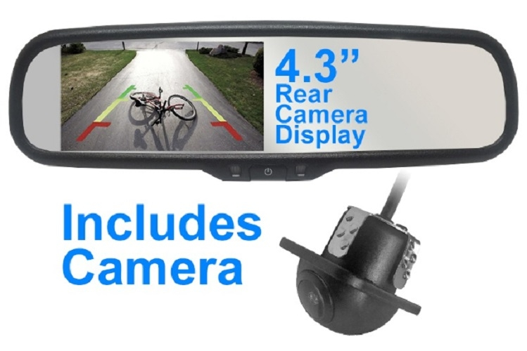 Mito 4.3Inch RVM43KIT Auto-Dimming Rearview Mirror Backup Monitor Display Camera