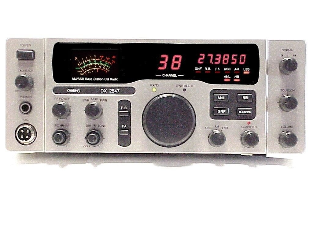 Galaxy Dx 2547 Cb Radio Base Station Am Ssb Pa 40 Channel