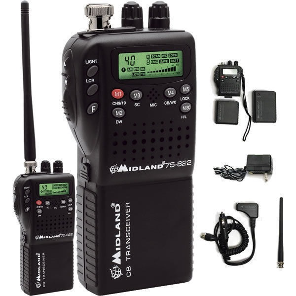Midland 75-822 40 Channel Handheld CB w/Mobile Converter Kit